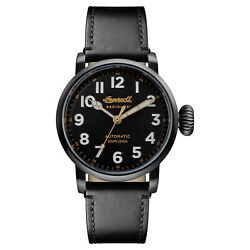 Ingersoll Men#x27;s I04805 Linden Black Dial 46mm Leather Watch $95.73