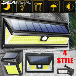 COBLED Solar Power PIR Motion Sensor Wall Light Outdoor Garden Lamp Waterproof $17.09