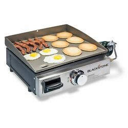 BLACKSTONE TABLE TOP GRILL - 17 INCH PORTABLE GAS GRIDDLE - PROPANE FUELED $105.99