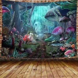 USA Mushroom Scenery Tapestries Psychedelic Wall Hanging Tapestry Home Art Decor $13.91