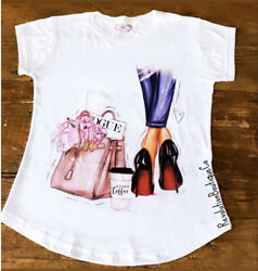 Settles Summer Ladies Sparkle T shirt fashion women Top books woman Short Tees $22.00