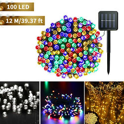 Solar Power 100 LED String Lights Garden Path Yard Decor Lamp Outdoor Waterproof $13.99