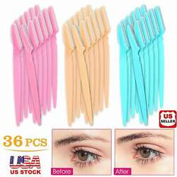 36Pcs Women Eyebrow Shaver Razor Bikini Trimmer Shaper Hair Remover Makeup Tools $11.70