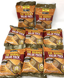 8 Hothands Toe Warmers Value 7 Pack =56 Total Pair! EXP 823 Foot Heat Lot $49.99