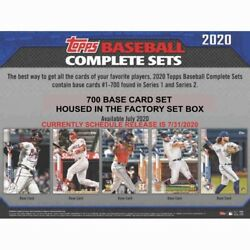 2020 TOPPS BASEBALL COMPLETE 700 CARD SET IN THE FACTORY BOX RC LUIS ROBERT SOX $36.99