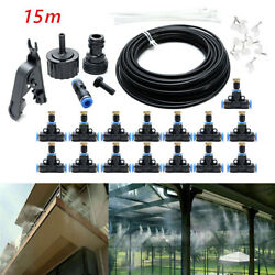 Misting Cooling System Garden Lawn Air Cooler Patio Water Nozzles Sprinkler $25.49