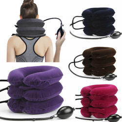 Inflatable Pillow Cervical Best Neck Traction for Home Use Neck Decompression $11.56