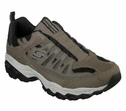 Skechers Mens   After Burn M. Fit Slip-On Walking Shoe Extra Wide Fit Brown $41.00