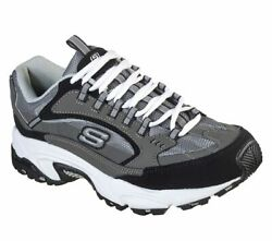 Skechers Mens   Stamina Nuovo CHARCOALBLACK Wide Fit $40.50