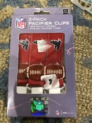 NFL Cardinals Baby Atlanta Falcons Orthodontic Pacifiers Pacifier Clip 3 PACK $7.95