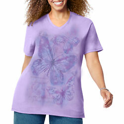Just My Size Womens Short Sleeve Graphic Tee $10.12