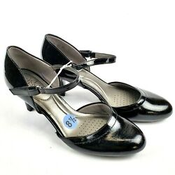NWOB Life Stride Womens Heels Pumps Patent Leather Shoes Black Size 8.5 $31.99
