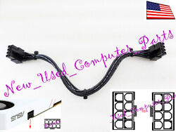 ➨➨ 8quot; Asus ROG Huracan G21 amp; GTX Turbo Inverted 8 Pin to 8 Pin PCI E Power Cable $15.99