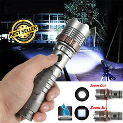 Ultra Brightest 900000LM Zoomable LED Rechargeable Flashlight Police Torch Light $10.99