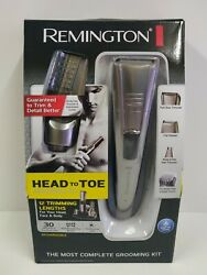 Remington Trimmer Shaver 12 Length HEAD To TOE Grooming Kit W Charging Stand NEW $28.00