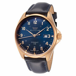 Glycine Men's GL0285 Combat 6 Classic Bronze 43mm Blue Dial Leather Watch $429.00