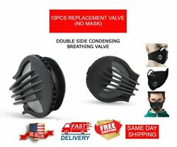 10PCS REPLACEMENT BREATHING VALVES FOR SPORTS MASKS PM2.5 FILTER USA SHIPPING $10.99