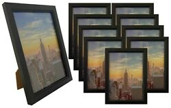 Frame Amo 5x7 Black Wood Picture Frame Glass Front Wall or Table 1 3 10 PACK $8.95