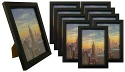 Frame Amo 4x6 Black Wood Picture Frame Glass Front Wall or Table 1 3 10 PACK $7.95