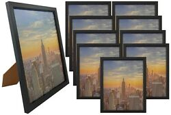Frame Amo 8x10 Black Wood Picture Frame Glass Front Wall or Table 1 3 10 PACK $16.95