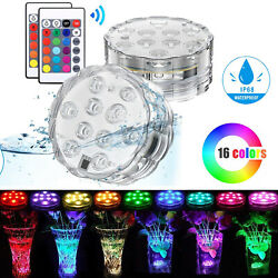 Underwater Submersible LED Lights RGB Swimming Pool Fountain Lamp Remote Control $14.95