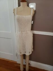 NEW Beautiful Cream Color Bathing Suit Cover Up Dress Size Small $19.99