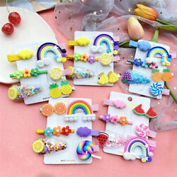 6Pcs Girls Baby Fruit Hair Clips Snap Kid Hairpin Barrettes Hair Bow Accessories $3.99