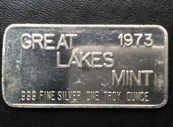 1973 Great Lakes Mint Commercial Silver Art Bar A1951 $117.00
