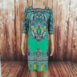 Studio One Dress 12 Green 3 4 Sleeve G $18.00