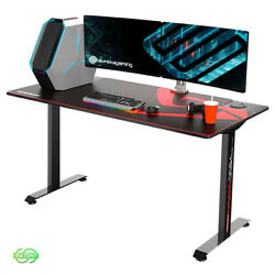 60 Inch Large Gaming Desk Large with Full-Size Mouse Pad Black $199.99
