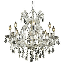 ASFOUR CRYSTAL CHANDELIER CHROME MARIA THERESA CEILING LIGHTING SALE 9 LIGHT 26