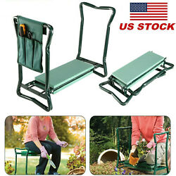 Folding Garden Kneeler Bench Kneeling Soft Eva Pad Cushion Seat  $35.69