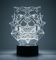 Pit Bull Dog Personalized Night Lamp FREE Engraved Name LED Light w remote $39.99