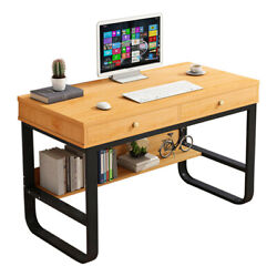 Wood Computer Desk PC Latop Study Table Workstation wDrawers &Shelf Home Office $93.55
