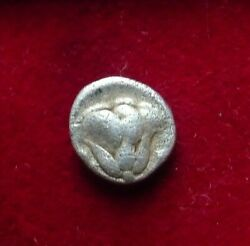 Greek Islands off Caria Rhodos. Rhodes. 408-390 B.C. AR Hemidrachm Helios Rose