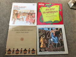 lot of 4 vinyl LP Records- Bizet Borodin Greek Folk dance