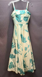 • True Vintage • 1950-60s Turquoise and White Formal SUNDRESS Special Ocassion  $95.00
