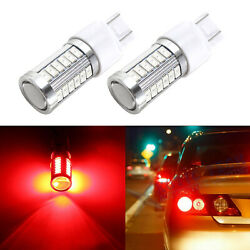 33-SMD 7443 7444 7440 7441 LED Bulbs Brake Stop Light Lamp Red Super Bright 2pcs $12.99