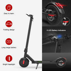 Megawheels S5 Foldable Aluminum E-scooter Black 250W 14MPH City Electric Scooter $236.55