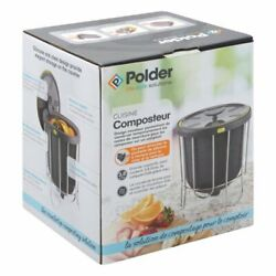 Polder Kitchen Compost bin Portable Lightweight Pop Out with Stand Gray $15.99