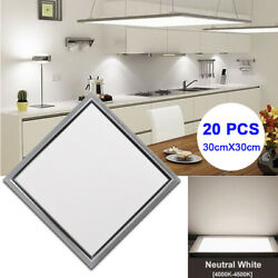 20Pcs 30X30cm LED Ceiling Panel Down light Neutral White Recessed Pendant Lamp $196.70