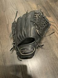 """Wilson A1K Pedroia Fit Outfield Glove A1kRB16OF1225 RHT 12.25 12 14"""" 2016 Black $70.00"""