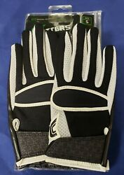 Cutters Football Gloves 017 Original Receiver Jersey Black White Size Small $24.95