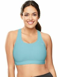 Champion Plus Size Sports Bra Mesh Vented Compression Vapor Moderate Support $20.47