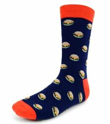 Men#x27;s Hamburger Novelty Socks $5.99