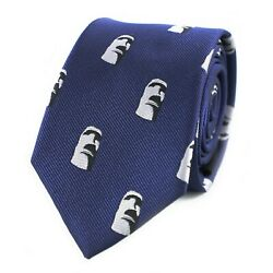 Men Novelty Statues Tie Easter Island Head Statue Pattern Necktie $11.95