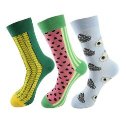 Men Novelty Socks Watermelon Socks Oyster Socks Hiking Socks Biking Socks $12.95