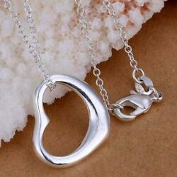New Women's Necklace 925 Sterling Silver Plated Heart Fashion Pendant Jewelry $10.49