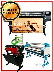 HP Latex Plotter Printer 360 64quot; 2 yr 55quot; laminator 53quot; cutter plus Flexi rip $13499.99