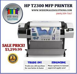 HP T2300 44 PRINTER PLOTTER WIDEIMAGESOLUTIONS FINANCING 2 YR WARRANTY! PAPER $3,299.00